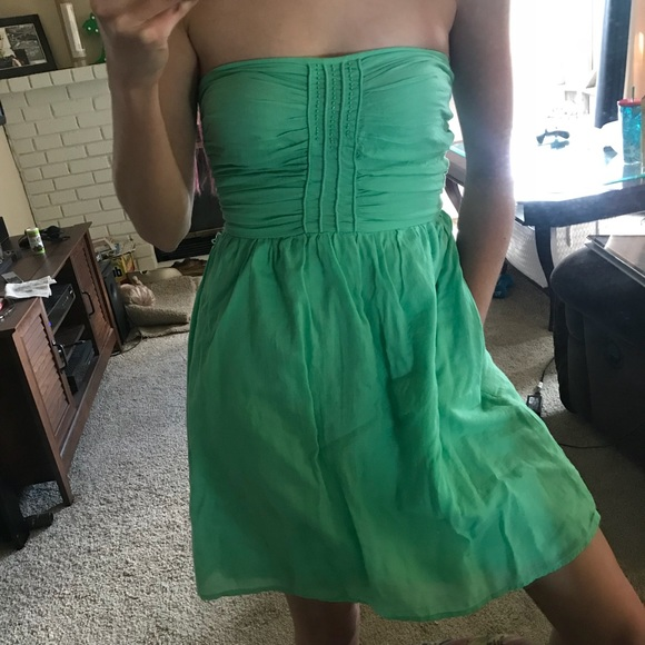Zara Dresses | Trafaulic Strapless Green